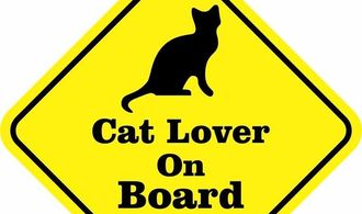Cat Lover On Board Sticker